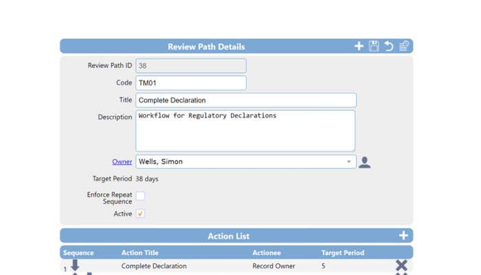 Supplier external provider Approval path example
