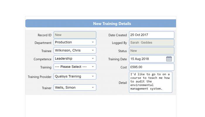 ISO and compliance training
